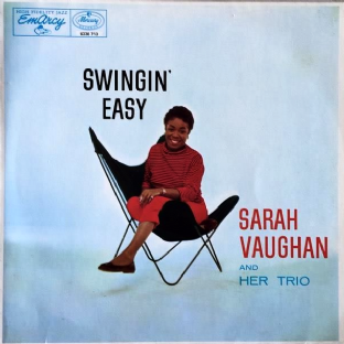 Sarah Vaughan And Her Trio - Swingin' Easy (LP) (EX-/EX-)